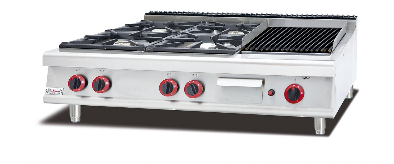 台式燃气四头煲仔炉火山石烧烤炉G H-999-1